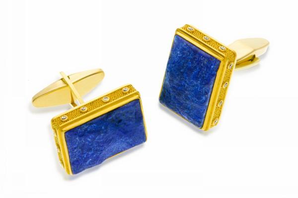 lapis lazuli buying guide - cuff links