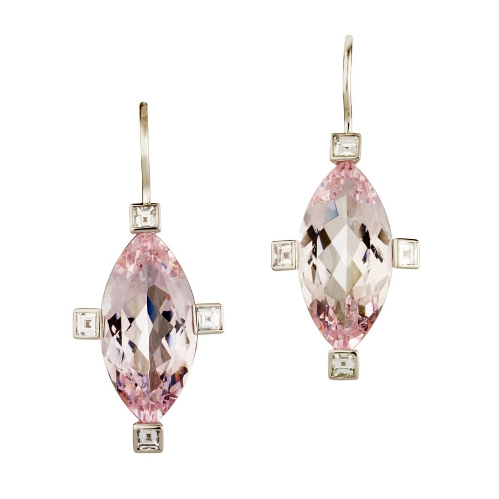morganite buying guide - earrings