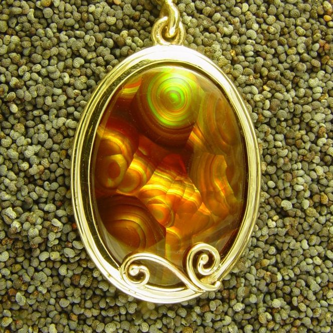 Beautiful Glass stone handmade silver plated pendant.