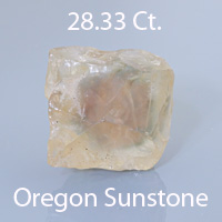 Cut Cornered Square Cushion Cut Sunstone, Oregon, U.S.A., 7.73 cts