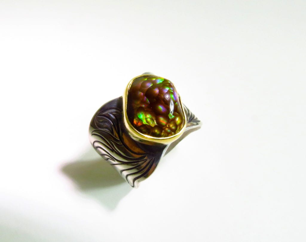 agate buying - fire agate ring