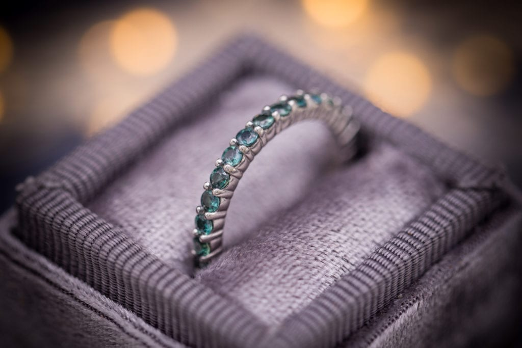 Alexandrite - eternity band