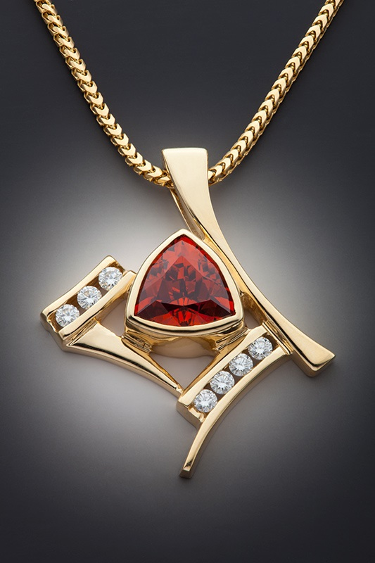 garnet buying - reddish orange spessartite pendant