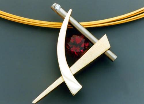 garnet buying - rhodolite pendant