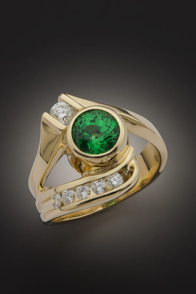garnet buying - tsavorite ring