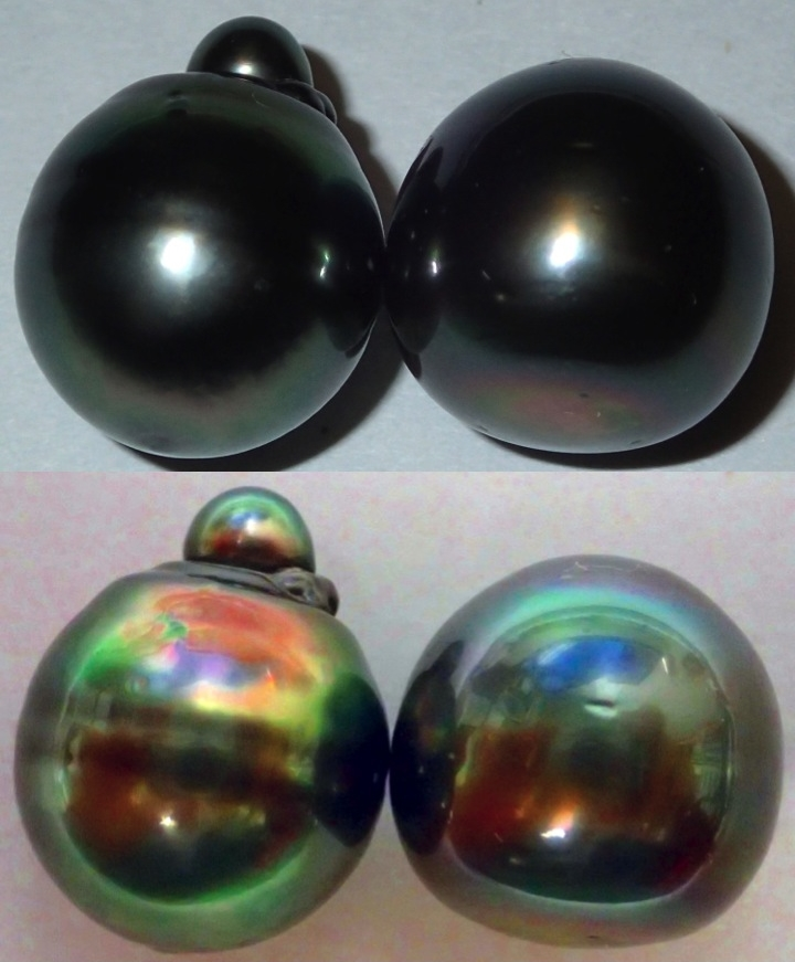 Body color and orient of black pearls
