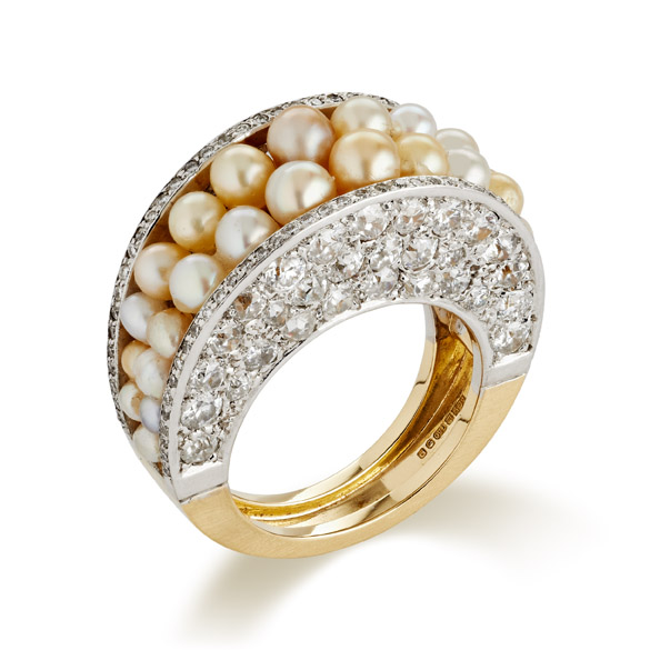 pearl buying - Ring with natural pearls