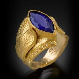 tanzanite buying - ring with 18k gold and diamonds