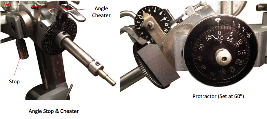 angle stop, angle cheater, and protractor - faceting machines and equipment