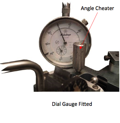 dial gauge and angle cheater - faceting machines and equipment