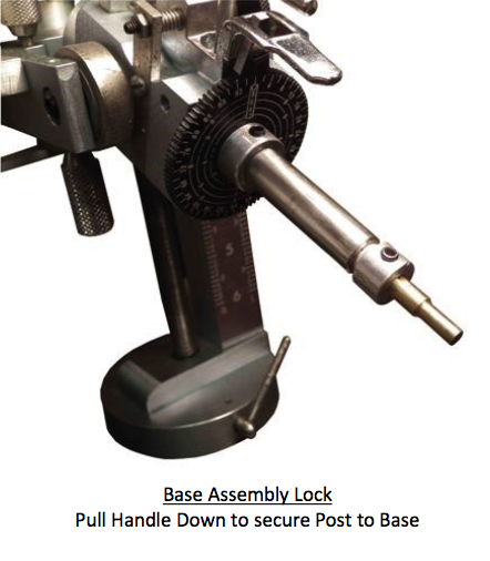 base assembly lock - faceting machines and equipment