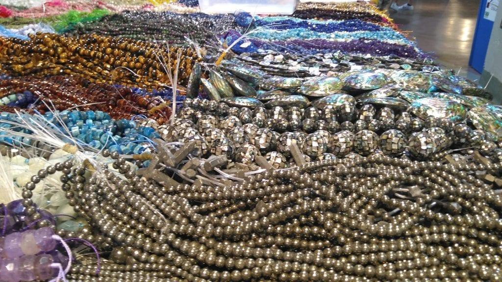 first gem show - beads