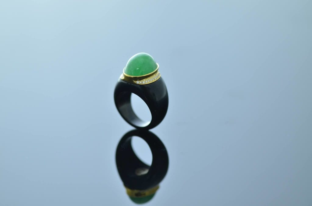 jade buying - cabochon ring