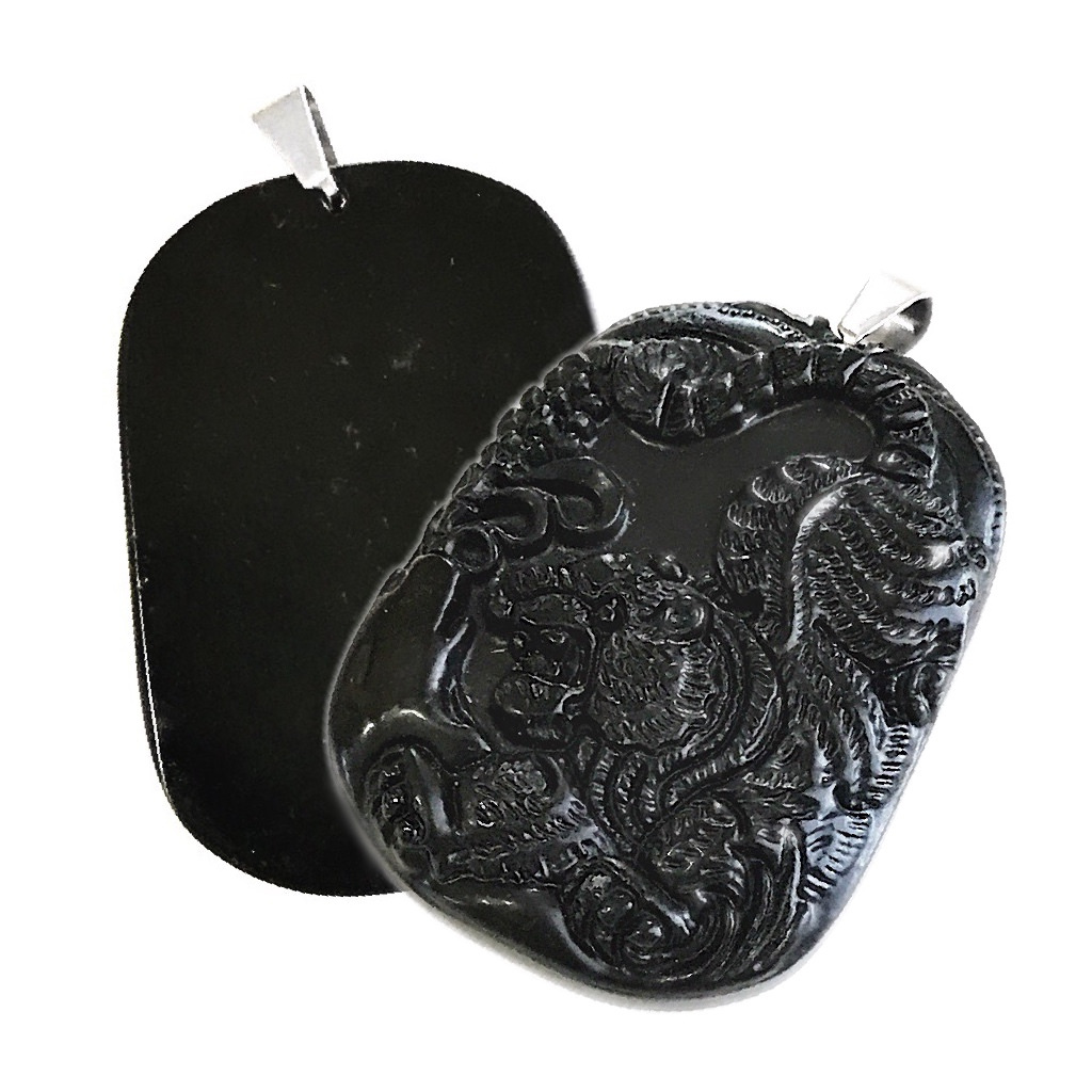 jade buying - carved black nephrite
