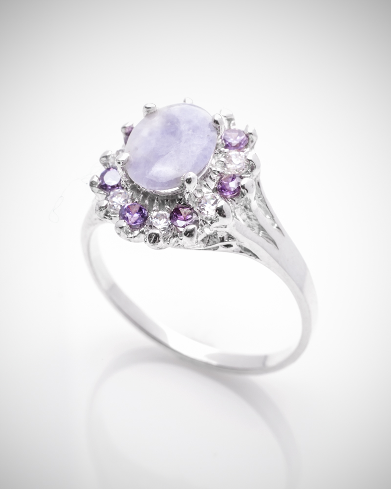 jade buying - lavender jade blossom ring