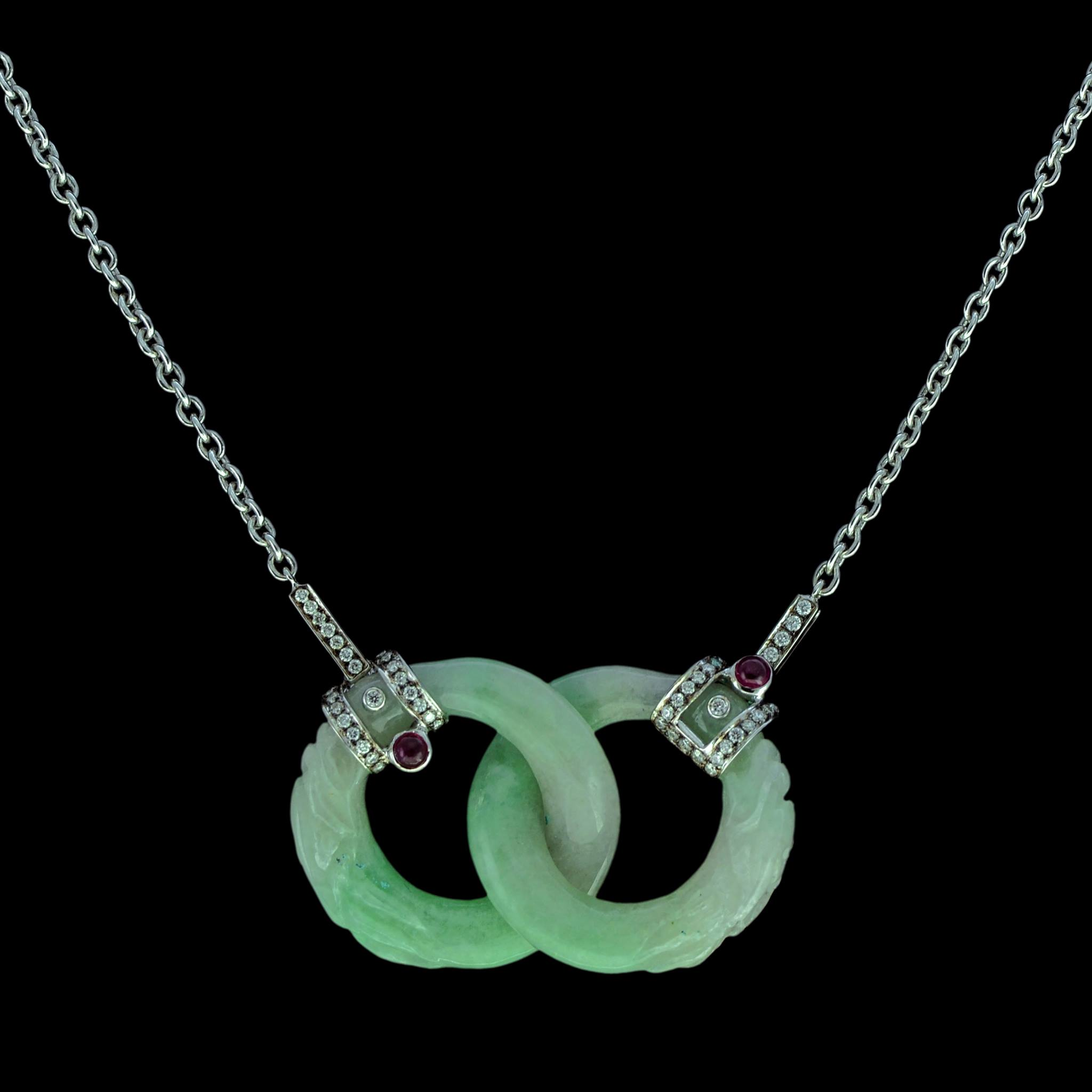 luck over long prosperity good golden life necklace jade sterling silver pendant chinese finish in green