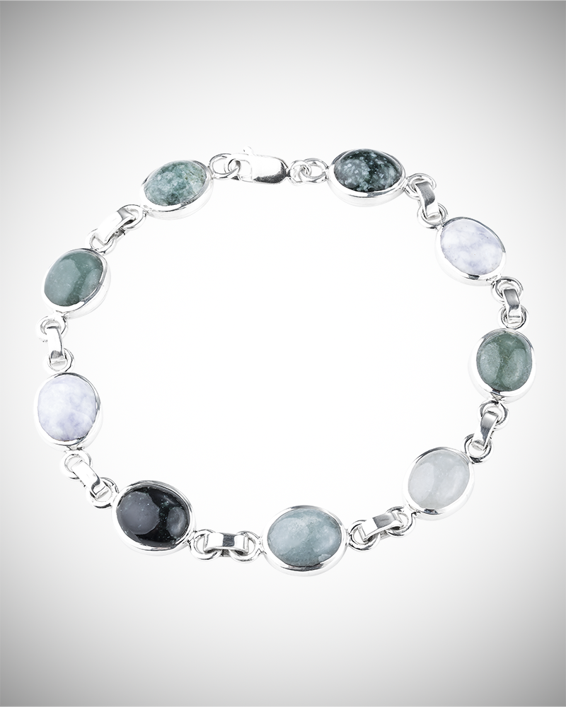 jade buying - multicolor jade bracelet