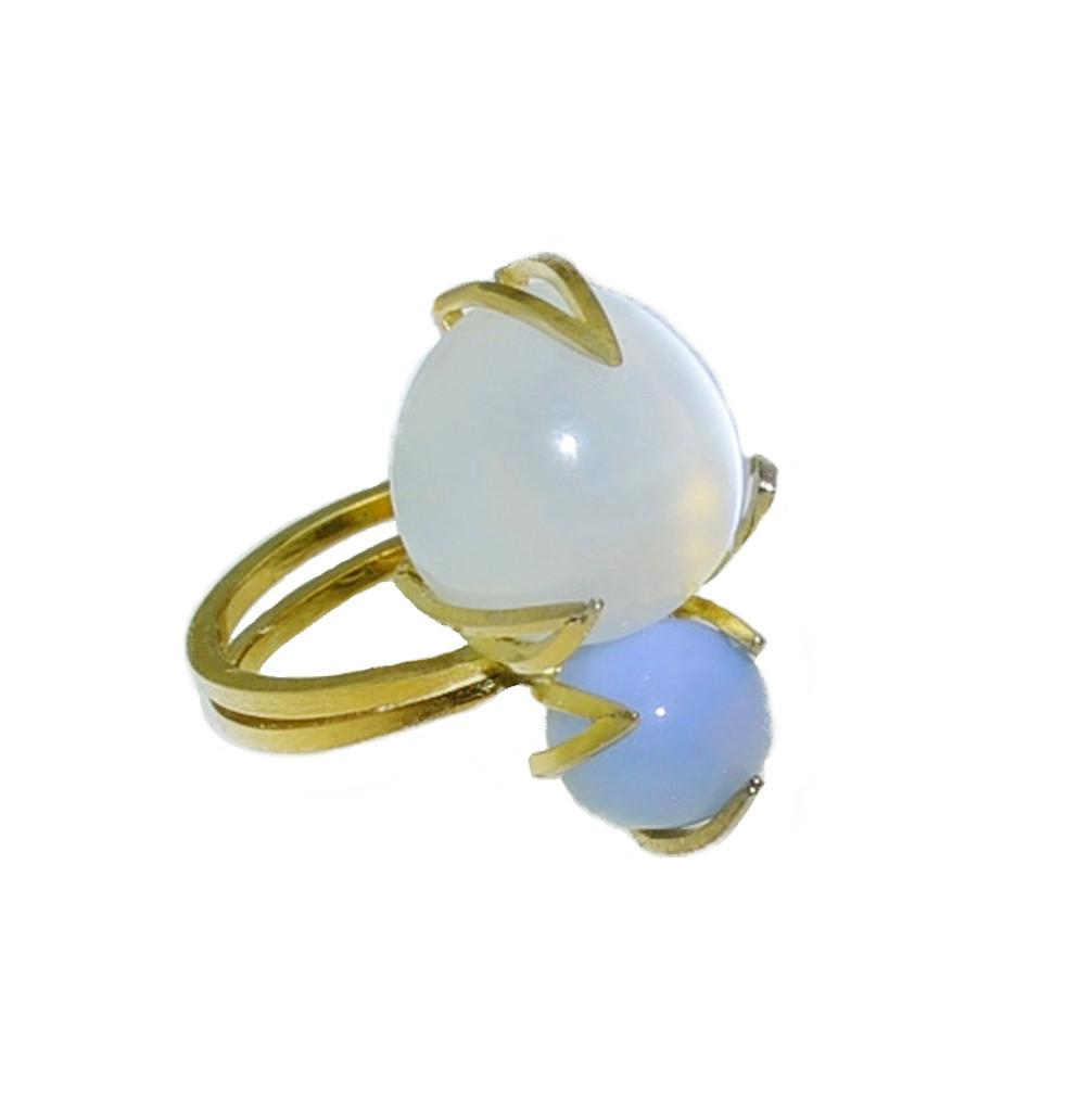 moonstone buying - moonstone and blue opal ring