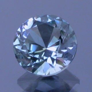 round brilliant cut tanzanite - gemstone transferring and crown cutting