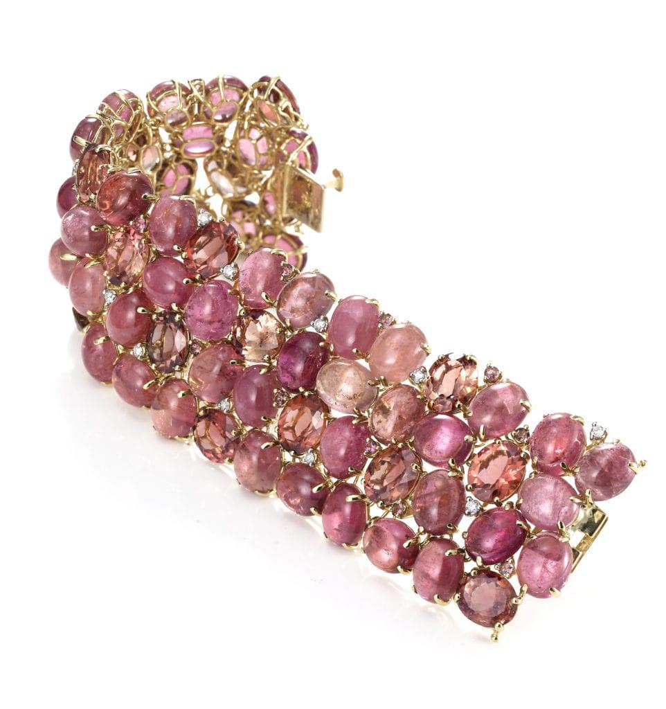 tourmaline buying - Ciotollo pink tourmaline bracelet