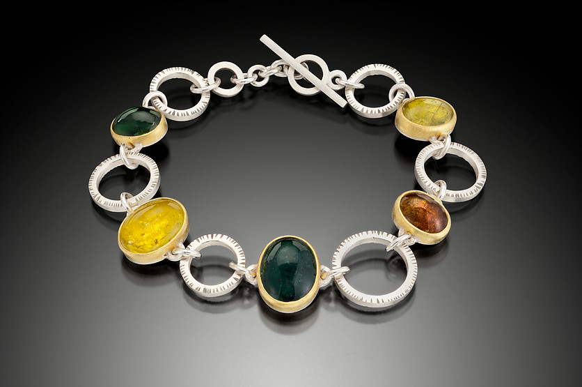 tourmaline buying - bracelet with several tourmaline colors