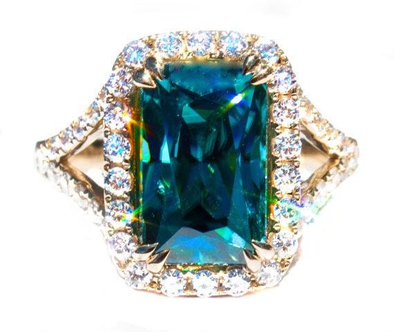 zircon buying - blue zircon and diamond ring