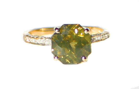zircon buying - green zircon ring
