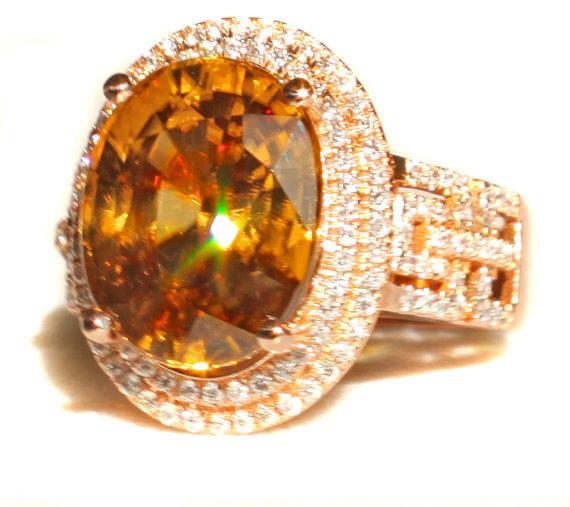 zircon buying - honey zircon ring