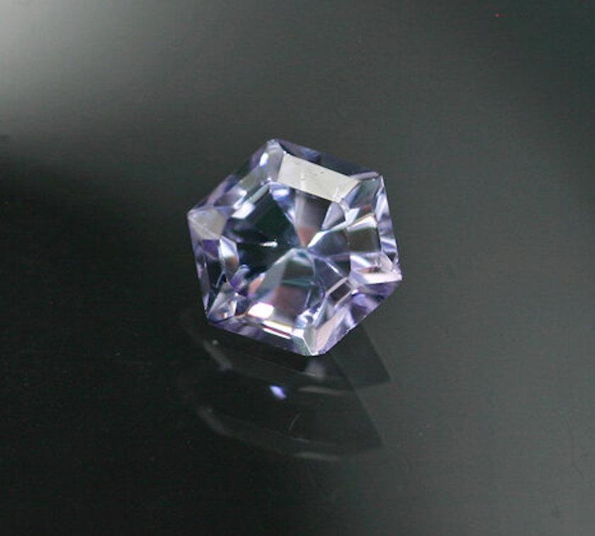 hexagon-cut gem