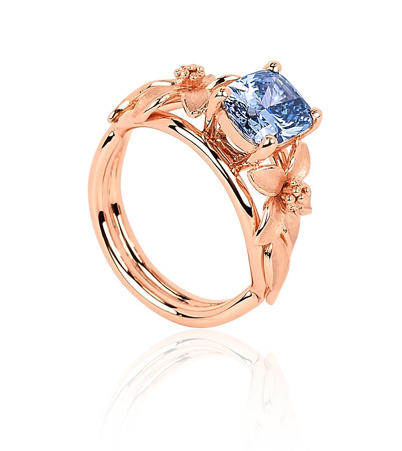 fancy colored blue diamond buying - Jane Seymour