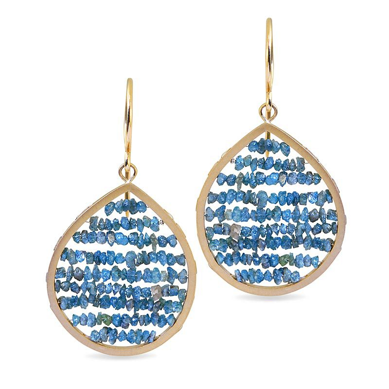 fancy colored blue diamond buying - earrings rough