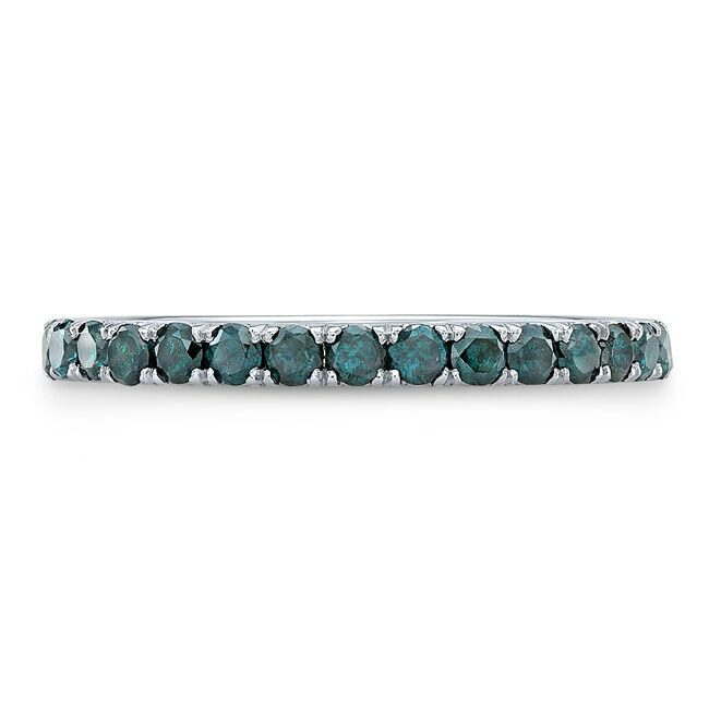 fancy colored blue diamond buying - treated blue diamond band