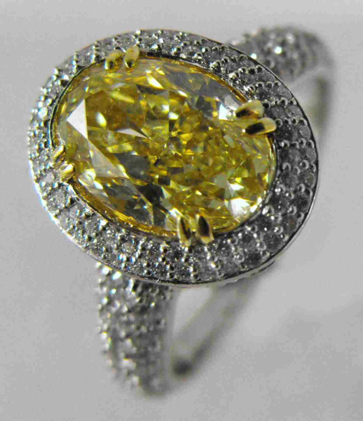 gorgeous canary fancy heart final white gold engagement ring unique yellow natural diamond
