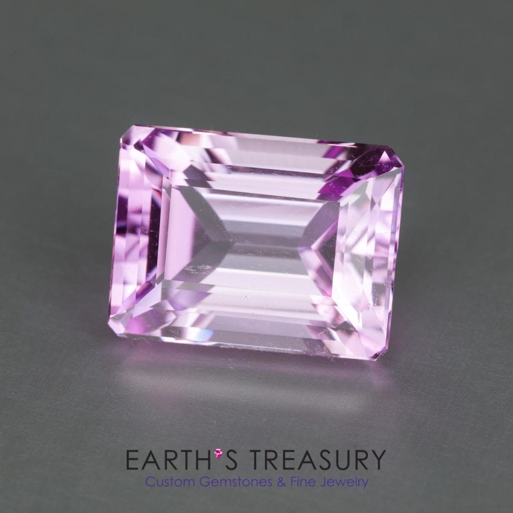 kunzite buying - pale emerald cut