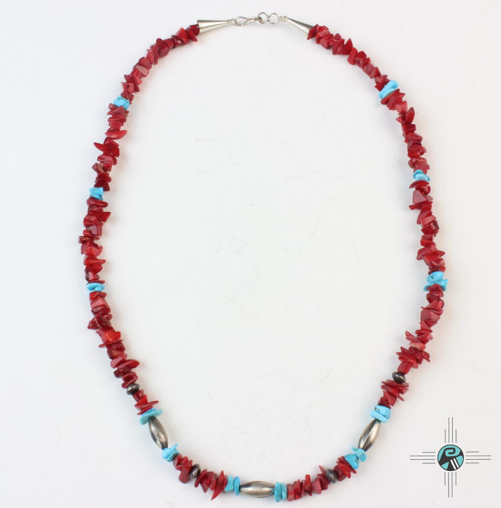 precious coral buying - coral and turquoise necklace