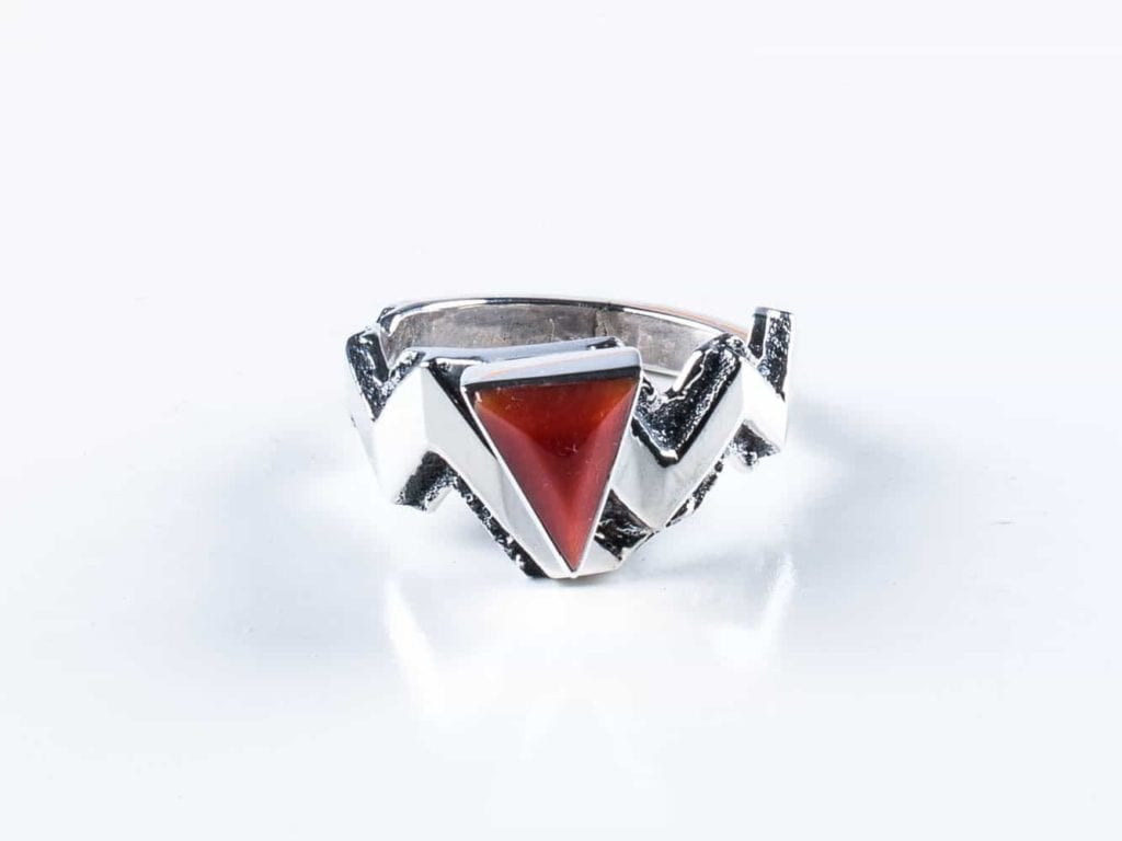 precious coral buying - salmon-colored coral ring