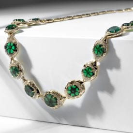 trapiche gems - trapiche emerald necklace