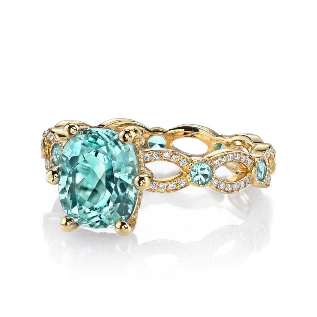 paraíba tourmaline buying guide - Annalise ring in Paraiba tourmaline