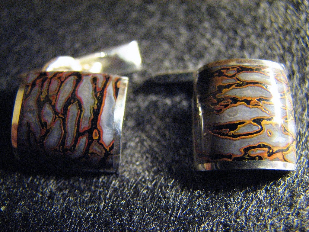 gems in cufflinks - gem bone