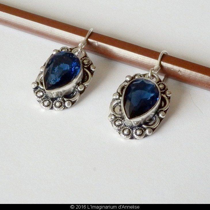iolite buying guide - iolite earrings