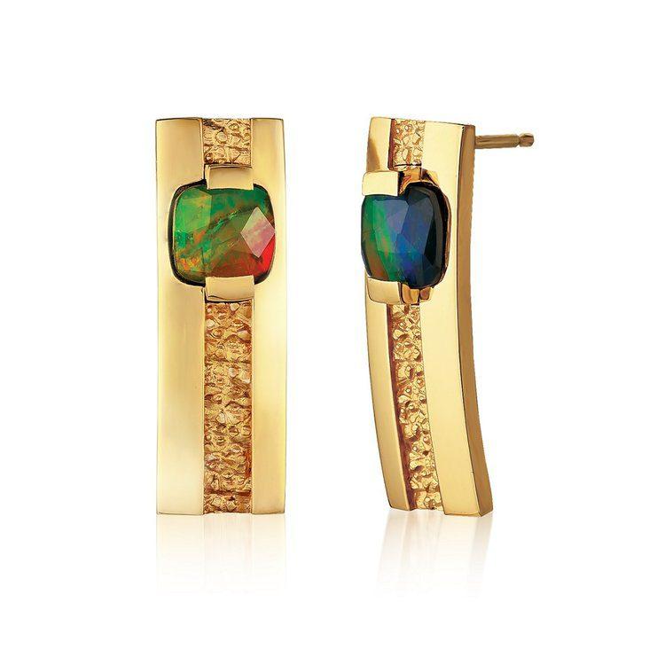 ammolite buying guide - lines of symmetry earrings