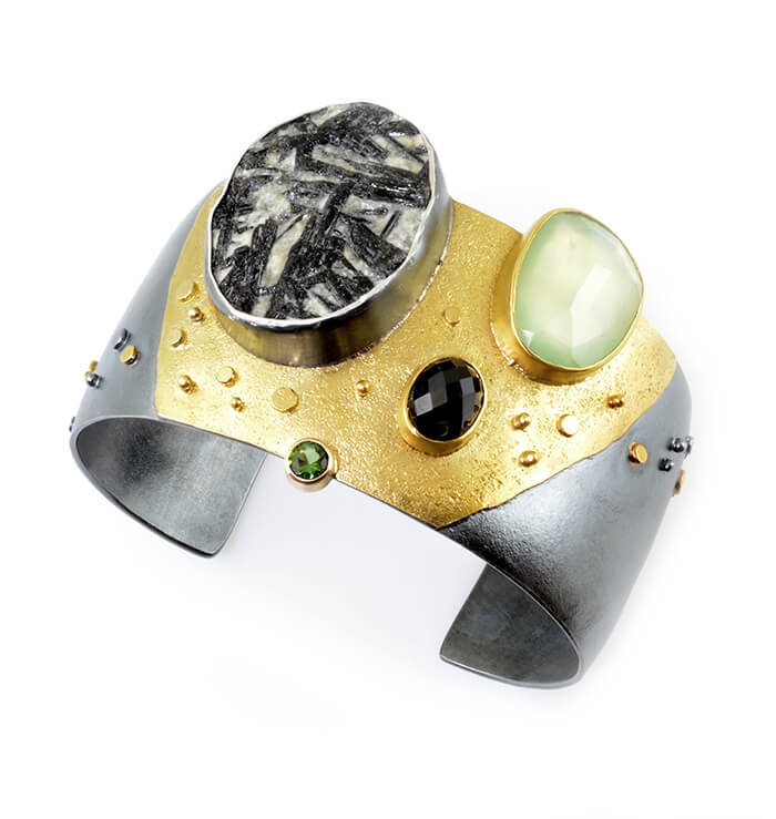 raw stone jewelry design and care - Tundra-Cuff