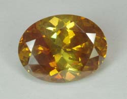 yellow gemstones - 12.26 ct Sphalerite Spain