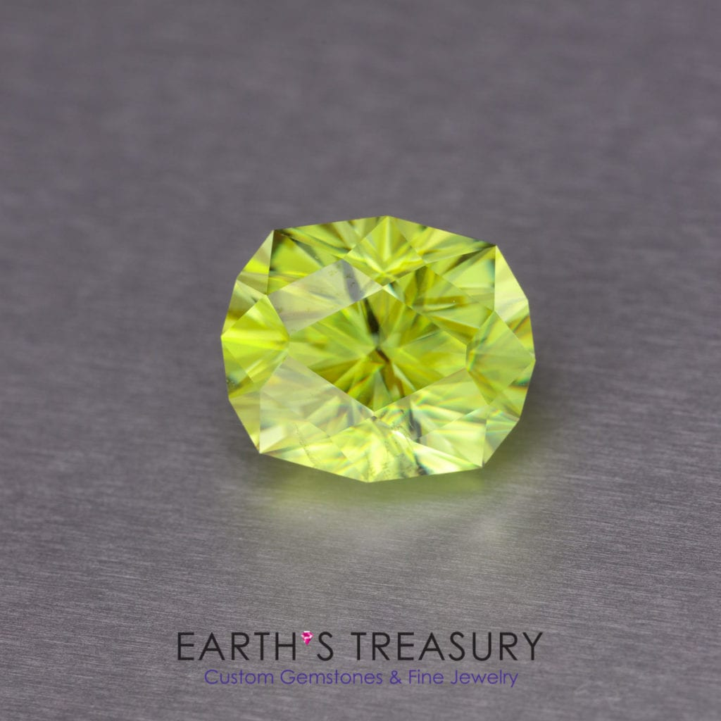 yellow gemstones - 4.77ct yellow-green sphene