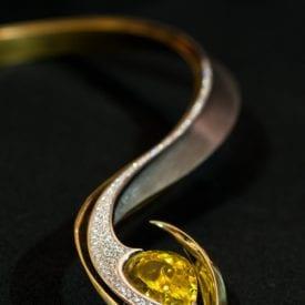 yellow gemstones - canary tourmaline necklace
