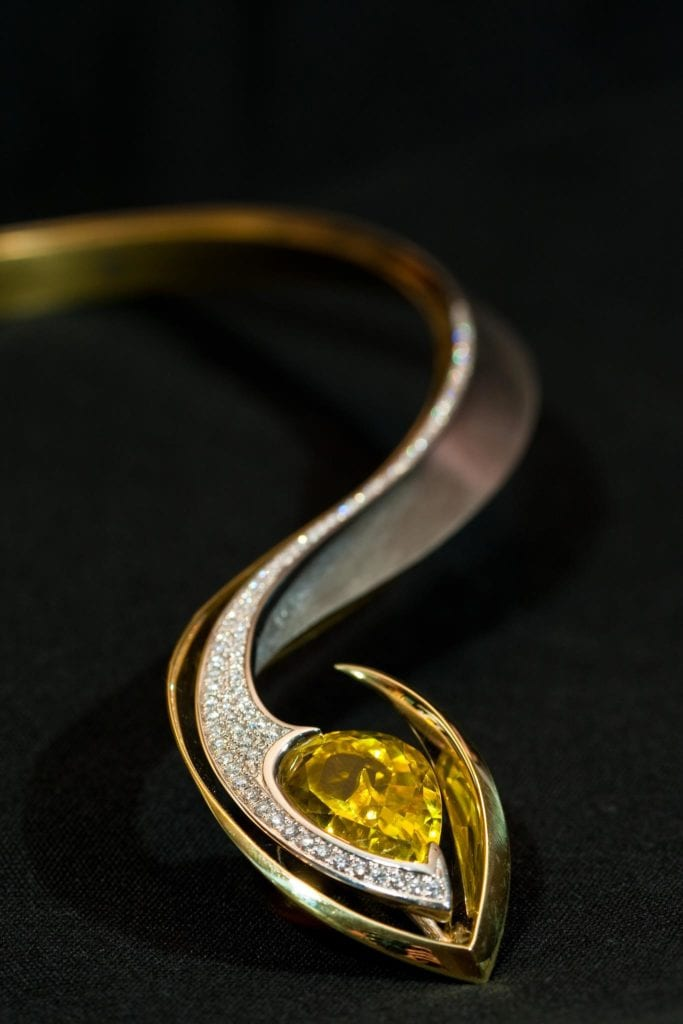 yellow gemstones - canary tourmaline necklace