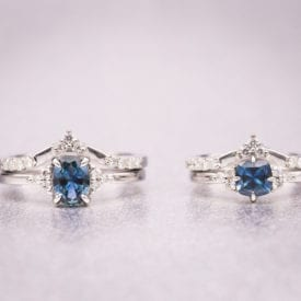 montana sapphires - matching rings