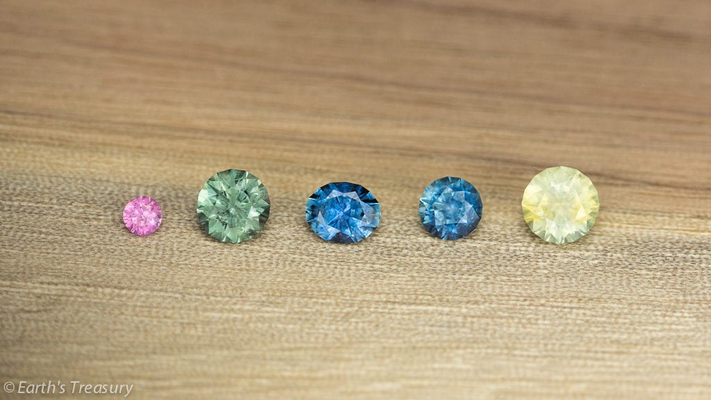 montana sapphires and yogo sapphires - treated and untreated