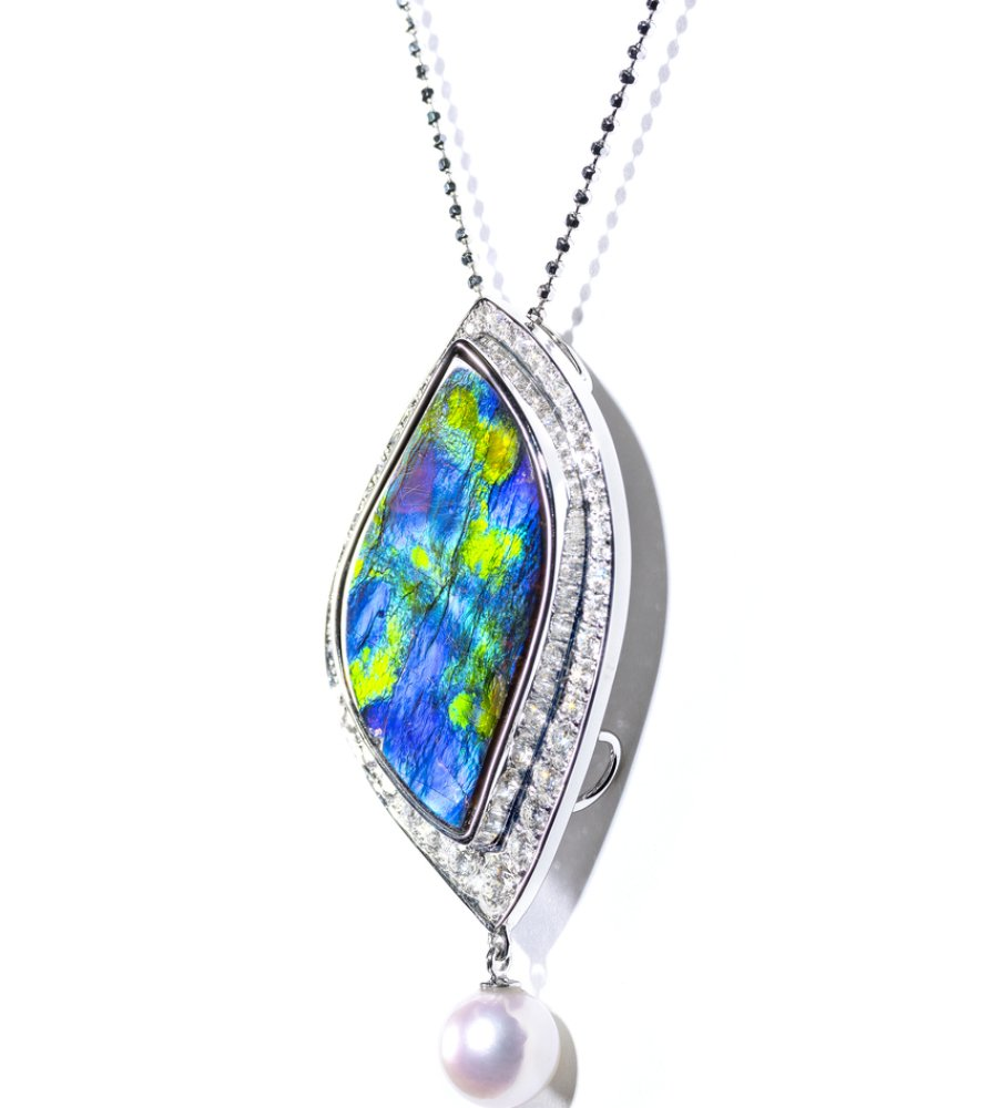 ten gemstones rarer than a diamond -Garden of Giverny Pendant 1