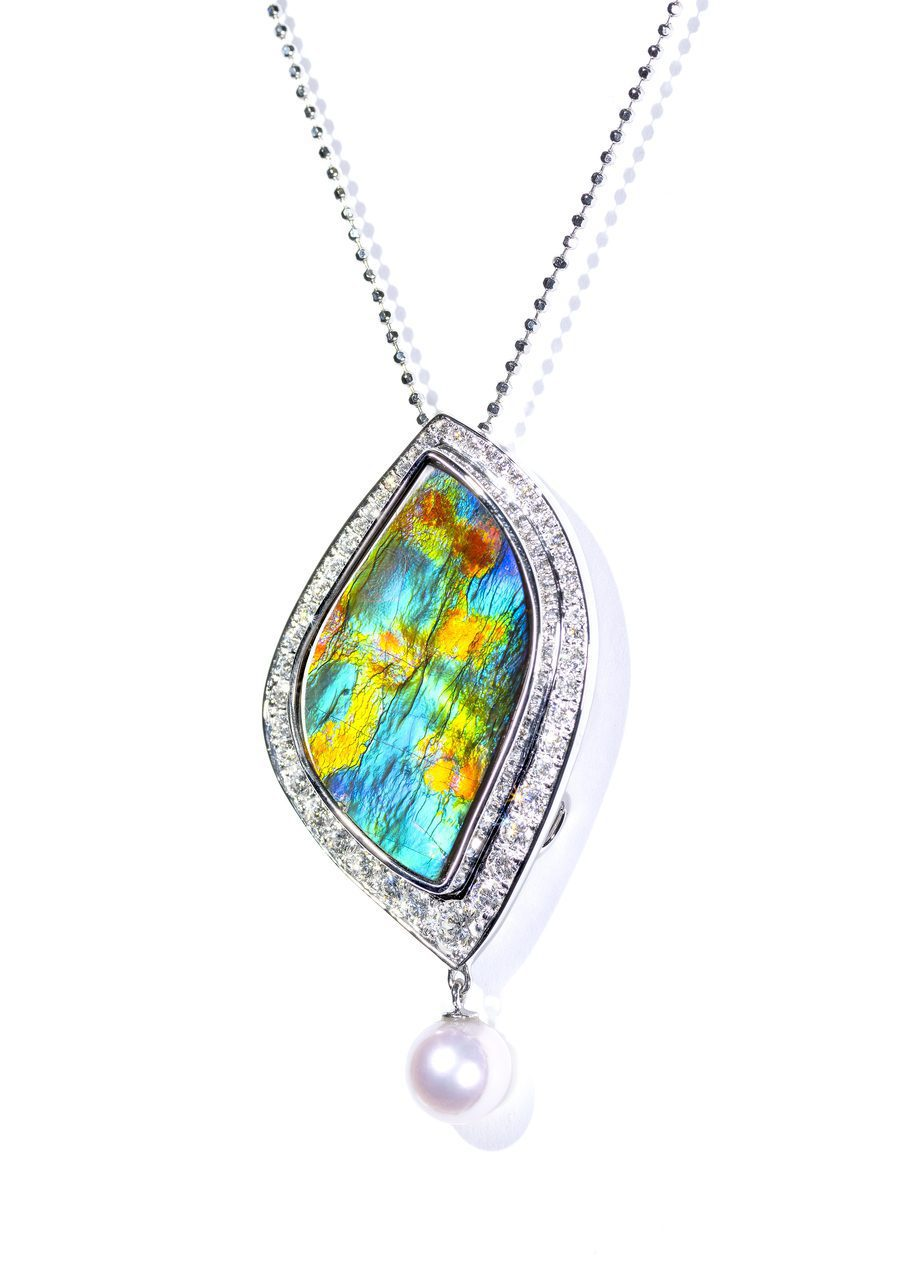 ten gemstones rarer than a diamond -Garden of Giverny Pendant 2
